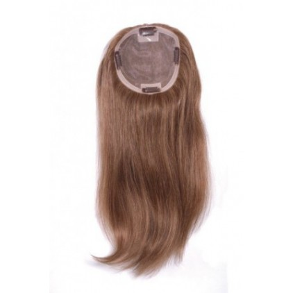 182H Human Hair Silk Top Hairpiece