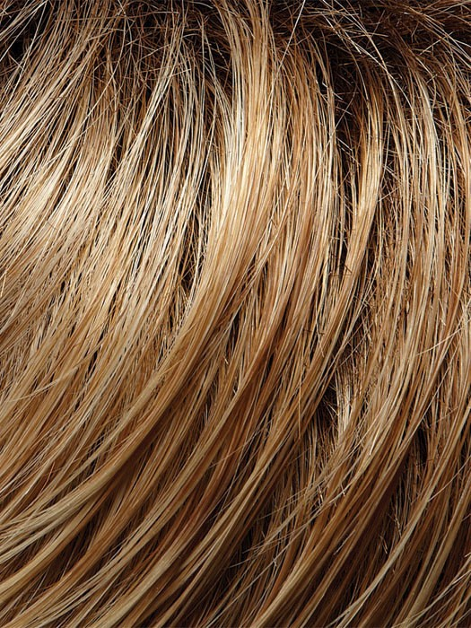 27T613S8 Medium Natural Red-Gold Blonde and Pale Natural Gold Blonde Blend and Tipped, Shaded with Medium Brown