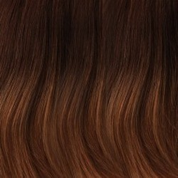 B8/27/30RO Medium Natural Brown Roots to Midlengths, Medium Red/Gold Blonde Midlengths to Ends