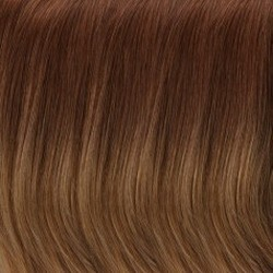 B8/30/14/26RO Medium Red/Golden Brown Roots to Midlengths, Light Golden Blonde Midlengths to Ends