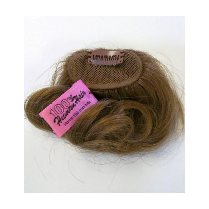 NTN-6H Small Human Hair Clip In Hairpiece