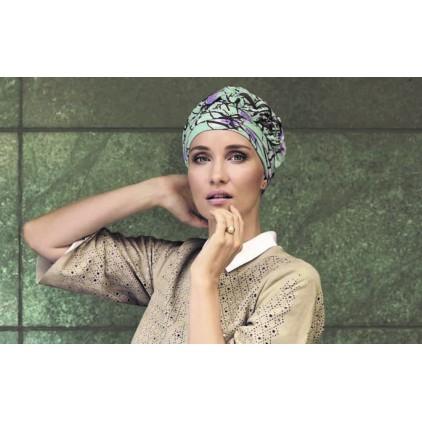 Azure Turban-Printed