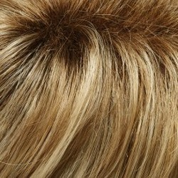 12FS8 Light Golden Brown, Light Natural Golden Blonde & Pale Natural Gold/Blonde Blend, Shaded w/Medium Brown