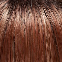 FS26/31S6 Medium Natural Red Brown w/ Red Gold Blonde Bold Highlights, Shaded w/ Brown